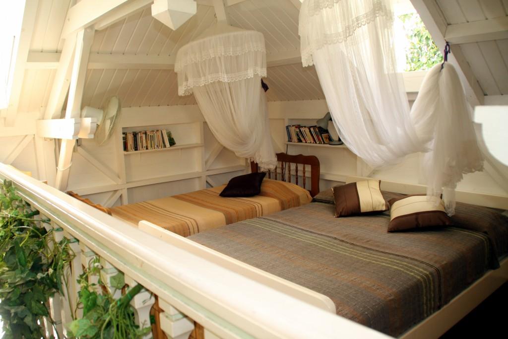 La mezzanine de la villa