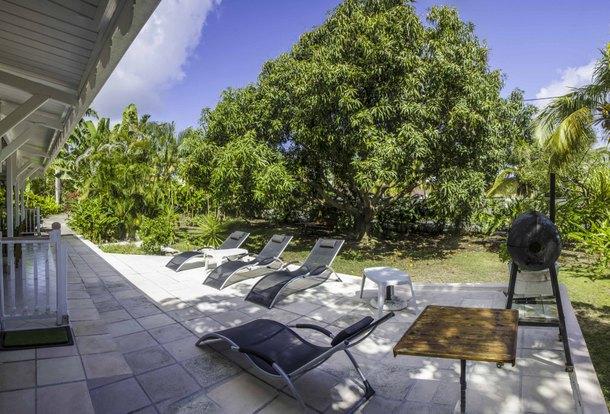 En villa guadeloupe location- L'espace barbecue