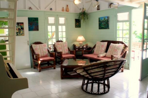 location villa de luxe Guadeloupe -Luxe creole du salon
