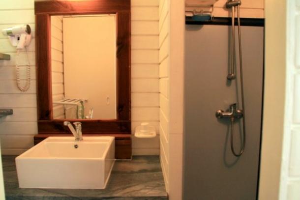 La salle de bains de la case creole de Villa Guadeloupe