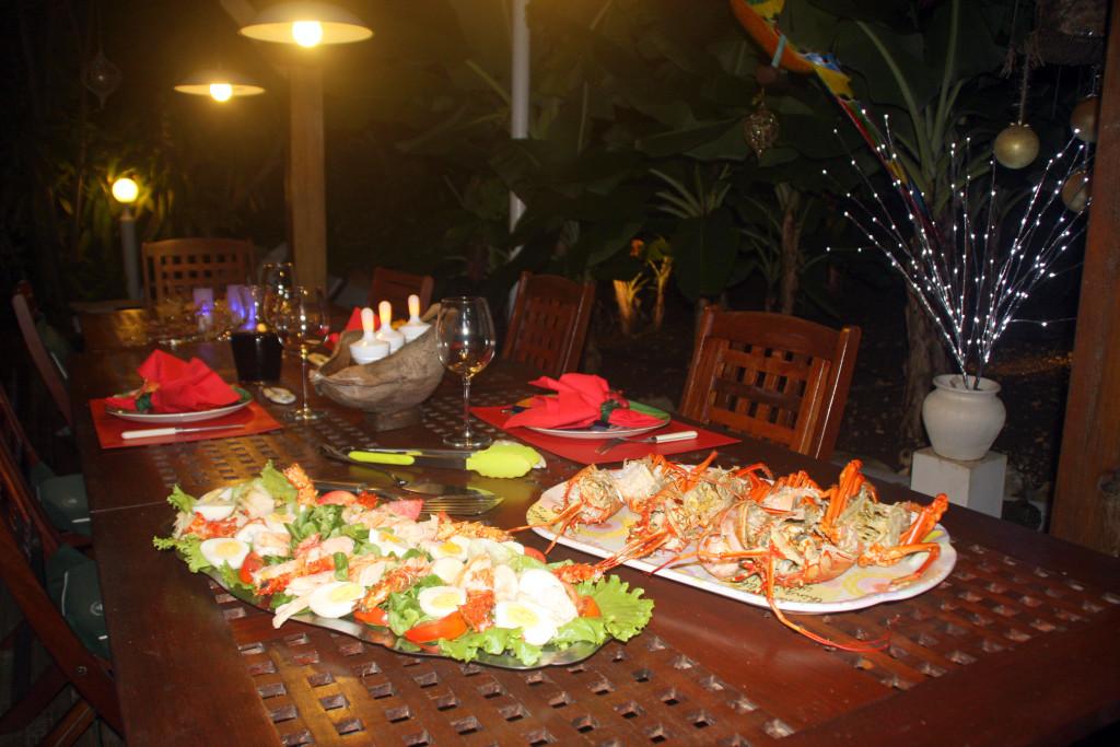 Dîner de fête en Guadeloupe